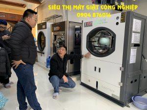 Lắp máy giặt công nghiệp cho xưởng giặt ở Điện Biên